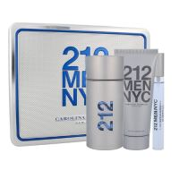 Carolina Herrera 212 100ml M Edt 100ml + 100ml sprchový gel + 10ml edt