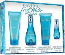 Davidoff Cool Water W EDT 50ml + EDT 15ml + BL 75ml + 75ml SET