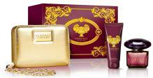 Versace Crystal Noir W EDT 90ml + BL 100ml + zlatá kabelka SET