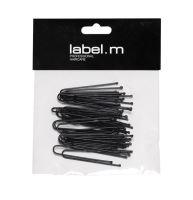label.m U-Pin Straight Black 50mm (40)/Vlásenka do U rovná černá 50mm 40ks