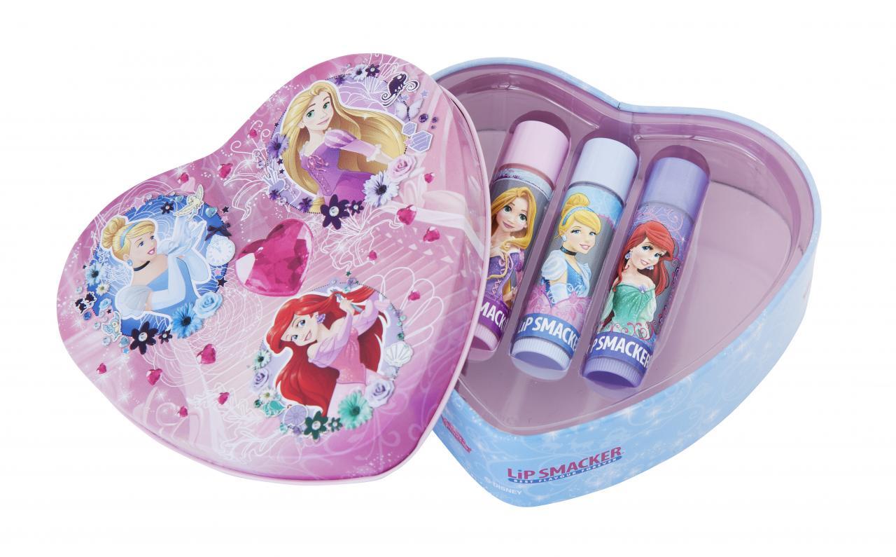 Lip Smacker Disney Princess Heart Tin Box 3pcs
