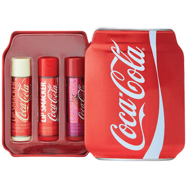 Lip Smacker Coca-Cola Small Can Tin Box 3pcs