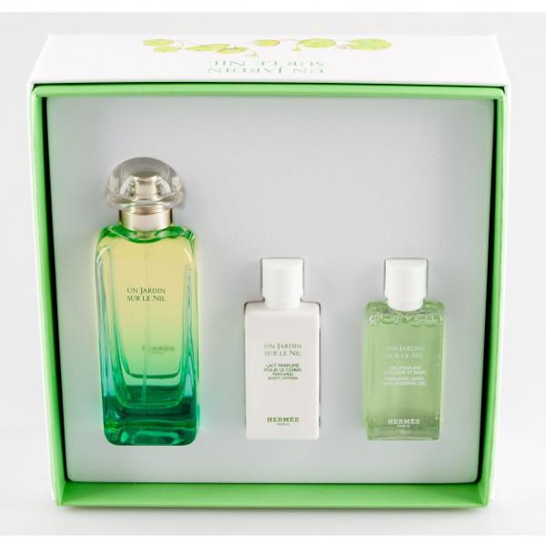 Hermes Un Jardin Sur Le Nil EDT 100 ml + Body lotion 40 ml + Shower gel 40 ml W