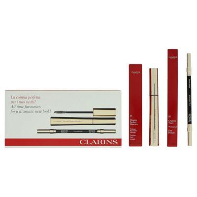 Clarins Wonder Perfect Mascara Set řasenka 7 ml + tužka na oči Eye Pencil Waterproof 1,2 g 01 Black