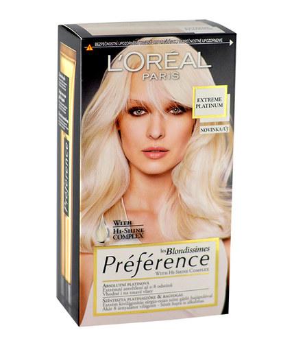 L´Oréal Paris Préférence les Blondissimes Hair Colour 1ks W Extreme Platinum