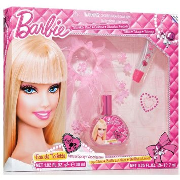 Barbie EDT 30ml + Tutu Hair Band + Lip Gloss 7ml + Crystal Sticker SET