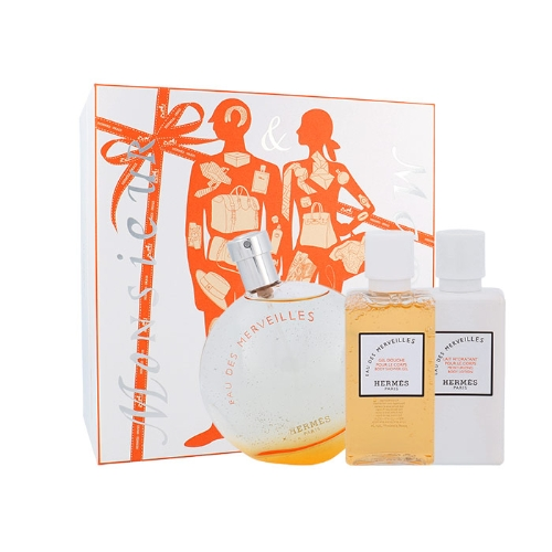 Hermes Eau Des Merveilles 100ml W Edt 100ml + 40ml tělové mléko + 40ml sprchový gel