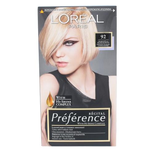 L´Oréal Paris Préférence Récital Hair Colour 1ks W 92