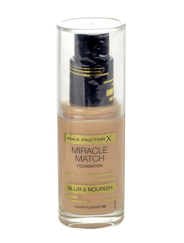 Max Factor Miracle Match Foundation 30ml W 45 Warm Almond