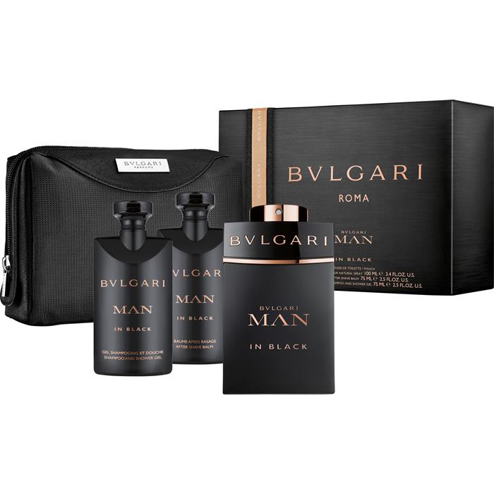 Bvlgari Man Black Cologne M EDT 100ml + ASB 75ml + Shampoo & SG 75ml + Pouch SET