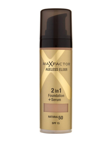 Max Factor Ageless Elixir 2v1 Foundation + Serum SPF15 30ml - 50 Natural