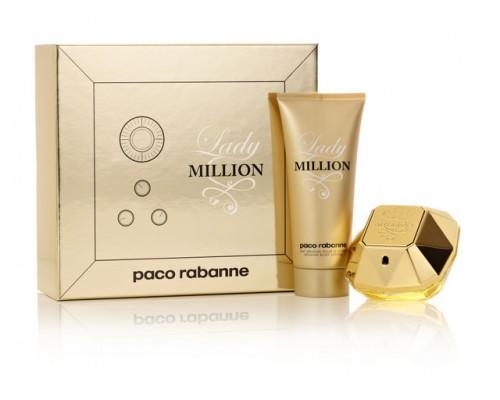 Paco Rabanne Lady Million W EDP 80ml + BL 100ml SET
