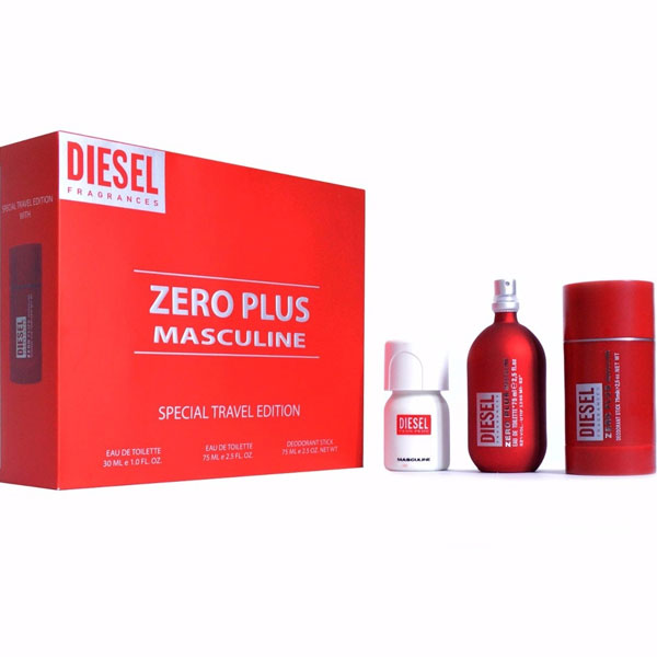 Diesel Zero Plus Masculine Travel Set M EDT 75ml + 30 EDT + 75 DS
