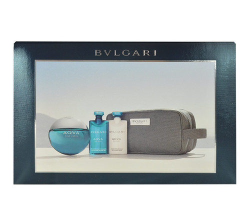 Bvlgari Aqva Pour Homme M EDT 100ml + ASB 75ml + SG 75ml + kosmetická taška