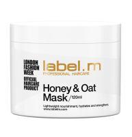 label.m Honey & Oat Mask 120ml /maska na bázi medu a ovsa pro přirozené suché,dehydra.vlas