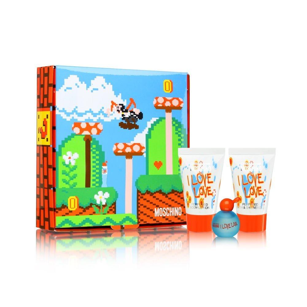 Moschino I Love Love W EDT 4,9ml Edt 4,9ml + 25ml tělové mléko + 25ml sprchový gel