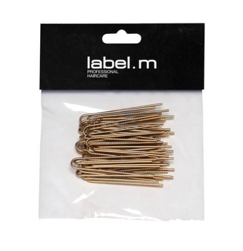 label.m Twisted U-Pin Gold 50mm (40)/Vlásenka  do U vroubkovaná zlatá 50mm 40ks