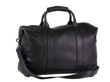 label.m Velká černá taška přes rameno, kožená