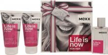 Mexx Life is Now W EDT 30ml + BL 2x50ml