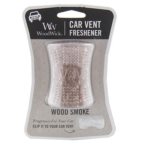 WoodWick Vůně do auta Wood smoke 10g