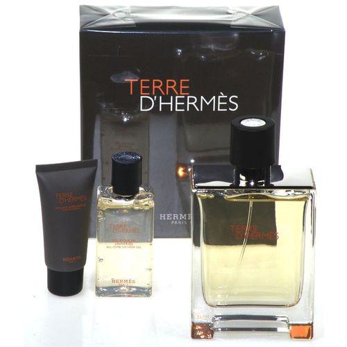 Hermes Terre d´ Hermes EDT 100 ml + Sprchový gel 40 ml + balzám po holení 15 ml M