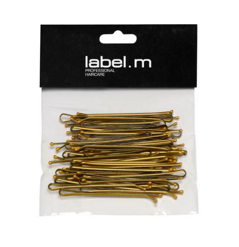 label.m Kirby Grip Straight Bronze 70mm (40)/Vlásenka uzavřená rovná bronz 70mm 40ks