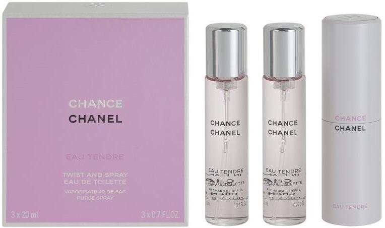 Chanel Chance Eau Tendre Twist and Spray Purse Spray W EDT 3x20ml