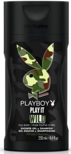 Playboy Play It Wild Shower Gel & Shampoo M 250ml