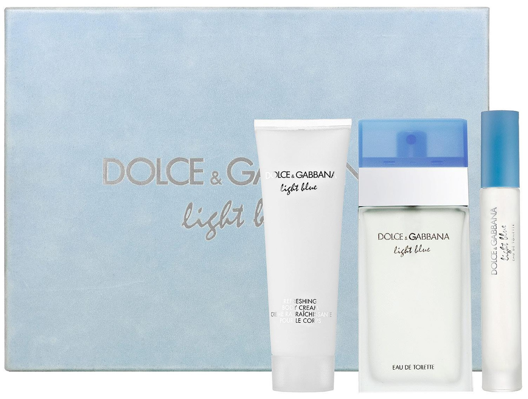 Dolce & Gabanna Light Blue W EDT 100ml + BC 100ml + EDT 7,4ml